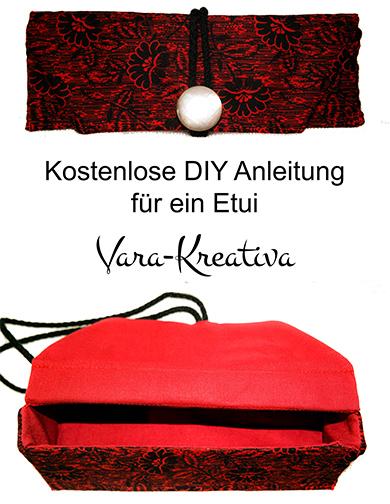 DIY Anleitung, Schnittmuster Etui nähen von Vara-Kreativa