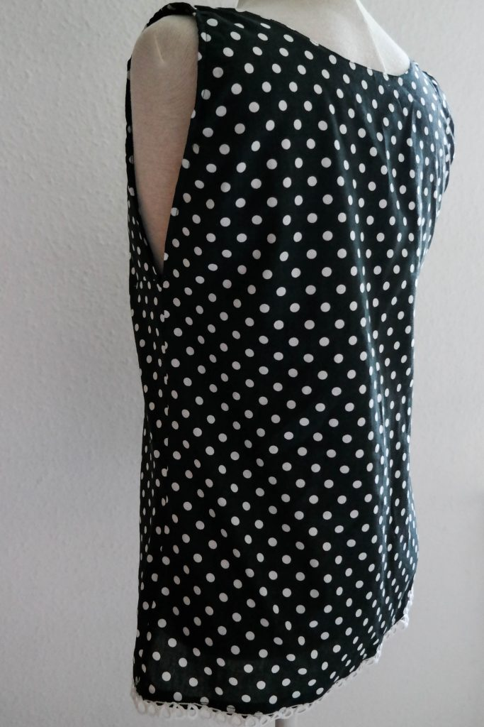 DIY nähen, DIY Kleidung, Gepunktete Bluse nähen, Vara-Kreativa
