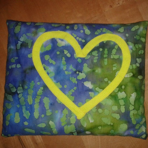 DIY nähen Kirschkernkissen Herz von Vara-Kreativa